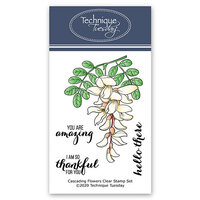 Technique Tuesday - Greenhouse Society Collection - Clear Photopolymer Stamps - Cascading Flowers