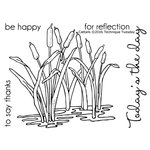 Technique Tuesday - Greenhouse Society Collection - Clear Photopolymer Stamps - Cattails