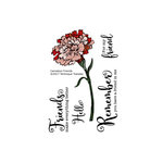 Technique Tuesday - Greenhouse Society Collection - Clear Acrylic Stamps - Carnation Friends
