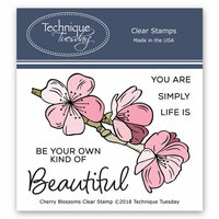 Technique Tuesday - Greenhouse Society Collection - Clear Photopolymer Stamps - Cherry Blossoms