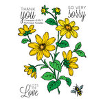 Technique Tuesday - Greenhouse Society Collection - Clear Acrylic Stamps - Coreopsis