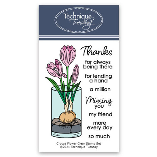 Technique Tuesday - Greenhouse Society Collection - Clear Photopolymer Stamps - Crocus Flower