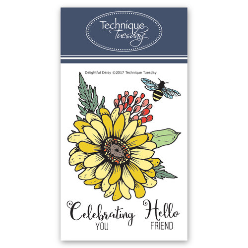 Technique Tuesday - Greenhouse Society Collection - Clear Photopolymer Stamps - Delightful Daisy