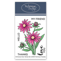Technique Tuesday - Greenhouse Society Collection - Clear Photopolymer Stamps - Echinacea Flower