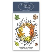 Technique Tuesday - Greenhouse Society Collection - Clear Photopolymer Stamps - Fall Wreath