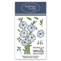 Technique Tuesday - Greenhouse Society Collection - Clear Photopolymer Stamps - Fabulous Flax