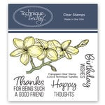Technique Tuesday - Greenhouse Society Collection - Clear Acrylic Stamps - Frangipani