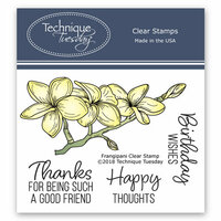 Technique Tuesday - Greenhouse Society Collection - Clear Photopolymer Stamps - Frangipani