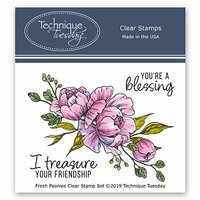 Technique Tuesday - Greenhouse Society Collection - Clear Photopolymer Stamps - Fresh Peonies