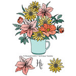 Technique Tuesday - Greenhouse Society Collection - Clear Acrylic Stamps - Hi Bouquet