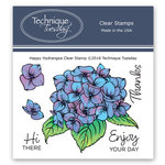 Technique Tuesday - Greenhouse Society Collection - Clear Photopolymer Stamps - Happy Hydrangea