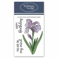 Technique Tuesday - Greenhouse Society Collection - Clear Photopolymer Stamps - Iris