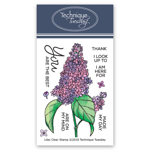 Technique Tuesday - Greenhouse Society Collection - Clear Acrylic Stamps - Lilac