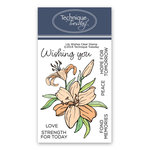 Technique Tuesday - Greenhouse Society Collection - Clear Acrylic Stamps - Lily Wishes