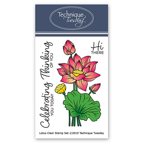 Technique Tuesday - Greenhouse Society Collection - Clear Photopolymer Stamps - Lotus