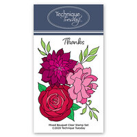 Technique Tuesday - Greenhouse Society Collection - Clear Photopolymer Stamps - Mixed Flower Bouquet