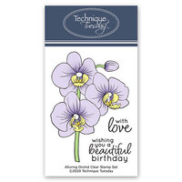 Technique Tuesday - Greenhouse Society Collection - Clear Photopolymer Stamps - Alluring Orchid