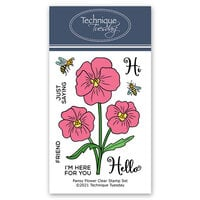 Technique Tuesday - Greenhouse Society Collection - Clear Photopolymer Stamps - Pansy Flower