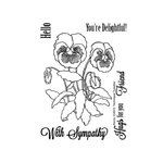 Technique Tuesday - Greenhouse Society Collection - Clear Acrylic Stamps - Pansy