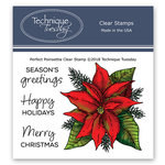 Technique Tuesday - Greenhouse Society Collection - Clear Photopolymer Stamps - Perfect Poinsettia