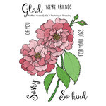 Technique Tuesday - Greenhouse Society Collection - Clear Acrylic Stamps - Ruffled Rose