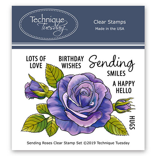 Technique Tuesday - Greenhouse Society Collection - Clear Photopolymer Stamps - Sending Roses