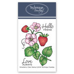 Technique Tuesday - Greenhouse Society Collection - Clear Acrylic Stamps - Strawberry