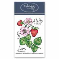 Technique Tuesday - Greenhouse Society Collection - Clear Photopolymer Stamps - Strawberry