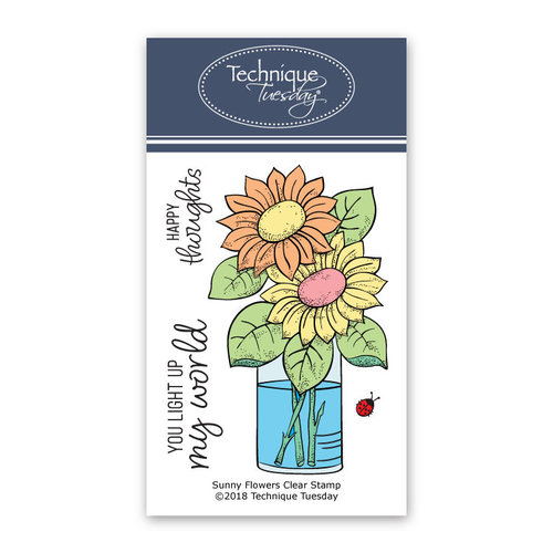 Technique Tuesday - Greenhouse Society Collection - Clear Photopolymer Stamps - Sunny Flowers