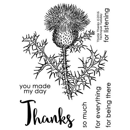 Technique Tuesday - Greenhouse Society Collection - Clear Photopolymer Stamps - Thistle Thanks