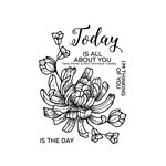 Technique Tuesday - Greenhouse Society Collection - Clear Acrylic Stamps - Today Flower