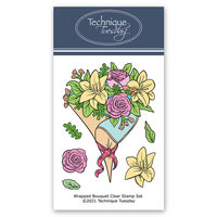 Technique Tuesday - Greenhouse Society Collection - Clear Photopolymer Stamps - Wrapped Bouquet