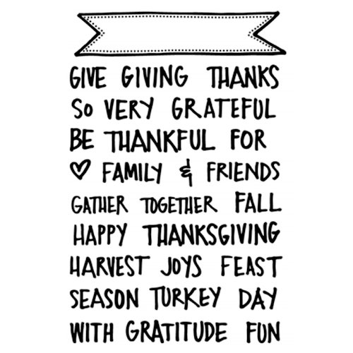 Technique Tuesday - Clear Acrylic Stamps - Giving Thanks Banners by Ali Edwards