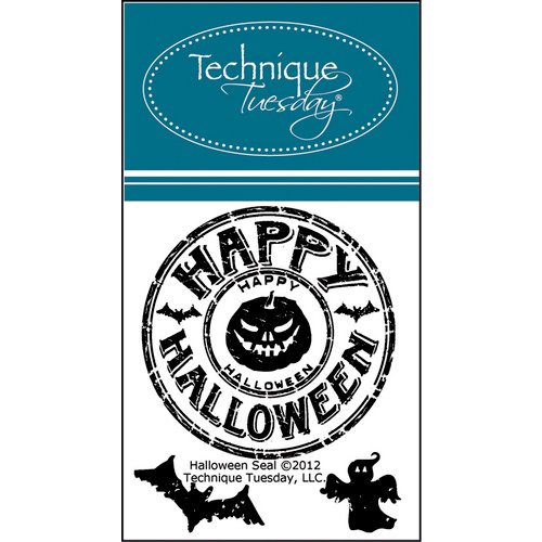 Technique Tuesday - Clear Acrylic Stamps - Halloween Seal