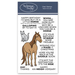Technique Tuesday - Animal House Collection - Clear Photopolymer Stamps - Hanna the Horse