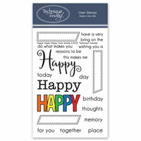 Technique Tuesday - Memory Keepers Studio - Clear Photopolymer Stamps - Happy Happy Happy