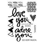 Technique Tuesday - Clear Acrylic Stamps - Hearts by Ali Edwards