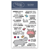 Technique Tuesday - Animal House Collection - Clear Photopolymer Stamps - Helen and Harry the Hippos