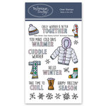 Technique Tuesday - Memory Keepers Studio - Clear Photopolymer Stamps - Hello Winter