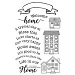 Technique Tuesday - Clear Acrylic Stamps - Home Banners