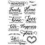 Technique Tuesday - Memory Keepers Studio - Clear Acrylic Stamps - Home Is