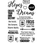 Technique Tuesday - Memory Keepers Studio - Clear Acrylic Stamps - Hopes and Dreams