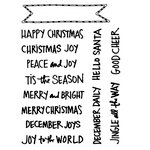 Technique Tuesday - Clear Acrylic Stamps - Hello Santa Banners by Ali Edwards
