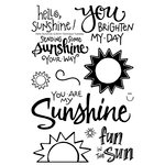 Technique Tuesday - Clear Acrylic Stamps - Hello Sunshine