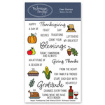 Technique Tuesday - Memory Keepers Studio - Clear Photopolymer Stamps - Happy Thanksgiving