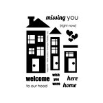 Technique Tuesday - Clear Acrylic Stamps - Happyville - Home
