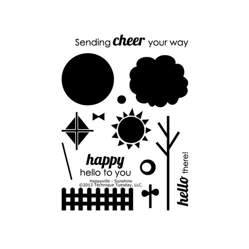 Technique Tuesday - Clear Acrylic Stamps - Happyville - Sunshine