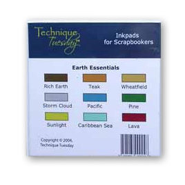 Technique Tuesday - Inkpads - Earth Essentials