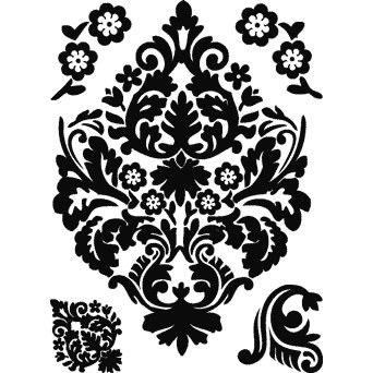 Technique Tuesday - Clear Stamps - Damask - Small, CLEARANCE