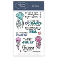 Technique Tuesday - Animal House Collection - Clear Photopolymer Stamps - Jellyfish